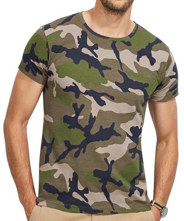 Camo vyriški marškinėliai