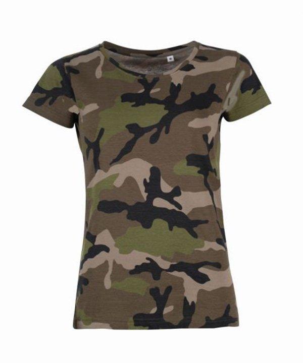 Camo moteriški marškinėliai