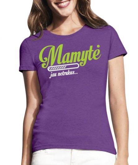 """Marškinėliai su spauda """"Būsima mamytė"""" moteriski marskineliai, spauda ant marskineliu, balti marskineliai, tiesiogine spauda, spalvoti marskineliai, draugiu marskineliai, poru marskineliu"""