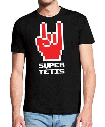 """Vyriški marškinėliai """"Super tėtis"""" , vyriski marskineliai su spauda, dovana teciui, marskineliai teciui"""