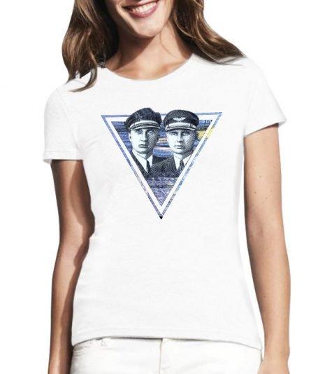 """Moteriški marškinėliai """"Darius ir Girėnas"""" , moteriski marskineliai su spauda, marskineliai su lietuviska simbolika"""