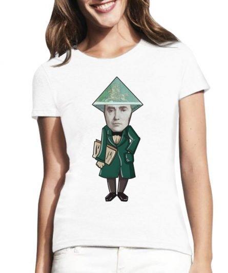 """Moteriški marškinėliai """"Daukantas 100 Lt"""" , moteriski marskineliai su spauda, marskineliai su lietuviska simbolika, marskineliai stilingi"""