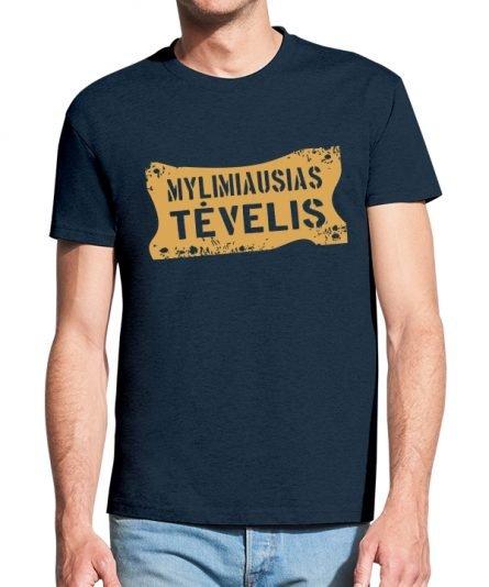 """Vyriški marškinėliai """"Mylimiausias tėvelis"""" , vyriski marskineliai su spauda, marskineliai teciui, dovana tecio dienai, marskineliai teciui"""