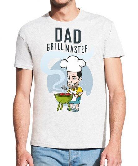 """Vyriški marškinėliai """"Grill master"""" , vyriski marskineliai su spauda, dovana teciui, marskineliai teciui"""