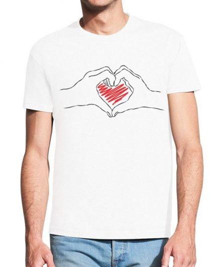 """Vyriški marškinėliai """"Širdis"""" , valentino marskineliai mylimajam, vyriski marskineliai su spauda, marskineliai mylimajam"""