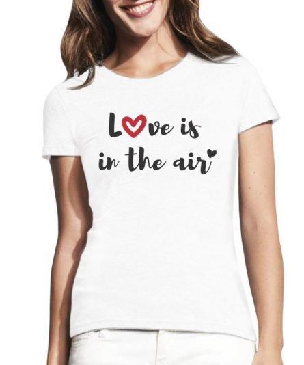 """Moteriški marškinėliai """"Love"""" , marskineliai mylimajai, moteriski marskineliai su spauda, marskineliai valentino dienos proga"""