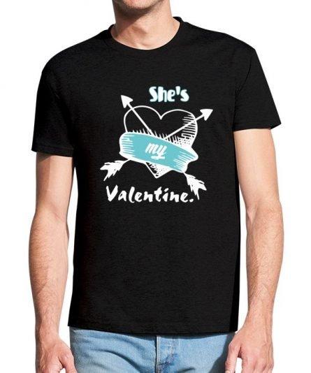 """Vyriški marškinėliai """"Valentine"""" , vyriski marskineliai valentino dienai., vyriski marskineliai su spauda, originalus marskineliai jam"""