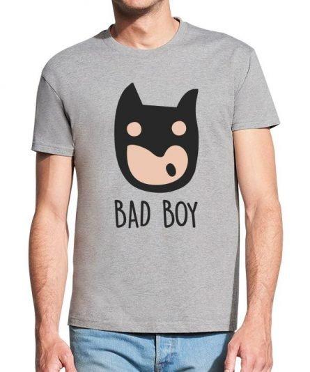 """Vyriški marškinėliai """"Bad boy"""" , vyriski marskineliai su spauda, poru marskineliai , originalus marskineliai poroms"""