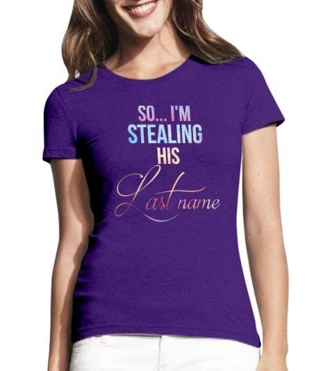 """Moteriški marškinėliai """"Last name"""" , moteriski marskineliai su spauda, originalus marskineliai poroms"""