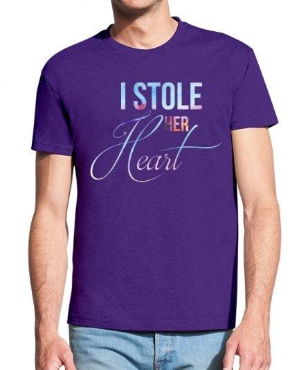 """Vyriški marškinėliai """"Heart"""" , vyriski marskineliai su spauda, orginalus marskineliai poroms, poru marskineliai su spauda"""