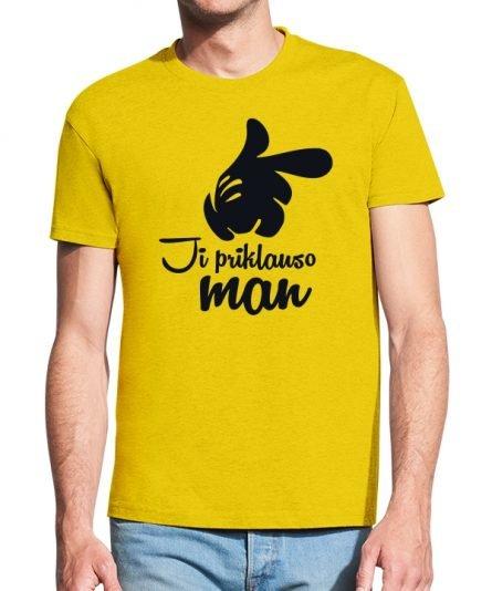 """Vyriški marškinėliai """"Ji priklauso"""" , vyriski marskineliai su spauda, originalus poru marskineliai, marskineliai poroms"""