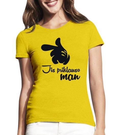"""Moteriški marškinėliai """"Jis priklauso"""" , moteriski marskineliai su spauda, originalus marskineliai poroms, poru marskineliai su spauda"""