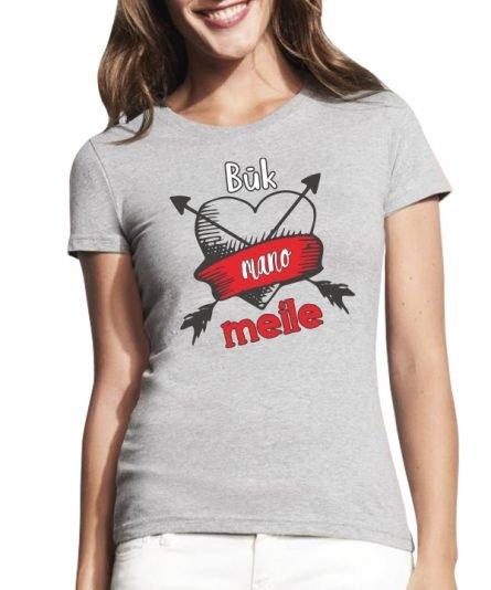 """Moteriski marskineliai """"Buk mano meile"""" Valentino dienai, moteriski marskineliai, spauda ant marskineliu, balti marskineliai, tiesiogine spauda, spalvoti marskineliai, linksmi marskineliai, gimtadienio marskineliai, poru marskineliai, Valentino diena, pilki marskineliai"""