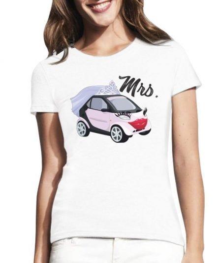 """Moteriški marškinėliai """"Mrs car"""" , moteriski marskineliai su spauda, poru marskineliai, originalus marskineliai poroms"""