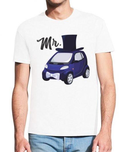 """Vyriški marškinėliai """"Mr car"""" , vyriski marskineliai su spauda, poru marskineliai su spauda, originalus marskineliai poroms"""