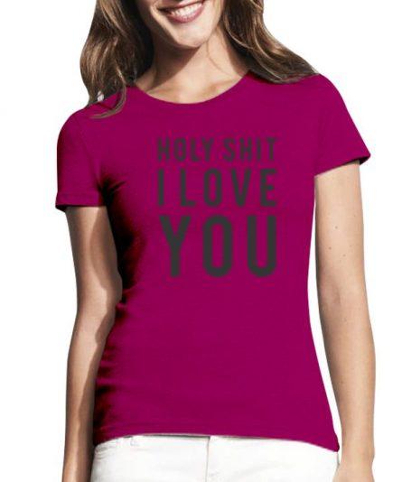 "Moteriški marškinėliai ""I love"" , moteriski marskineliai valentino proga, moteriski marskineliai su spauda, maike, maike su uzrasu, marskineliai su uzrasu"