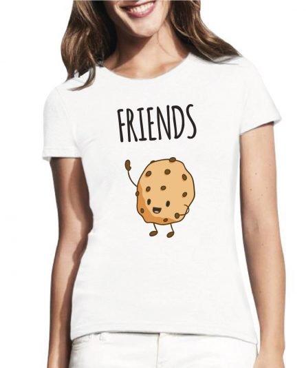 moteriski marskineliai pienas ir sausainis, marskineliai su spauda, marskineliai draugei, draugiu marskineliai, marskineliai draugems