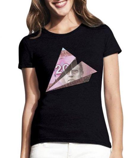 """Moteriški marškinėliai """"Maironis 20 Lt."""" , moteriski marskineliai su spauda, moteriski marskineliai su lietuviska simbolika"""