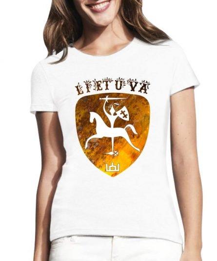 """Moteriški marškinėliai """"Lietuva"""" , moteriski marskineliai su spauda, marskineliai su lietuviska simbolika, lietuviski marskineliai"""