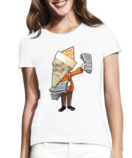 """Moteriški marškinėliai """"Basanavičius"""" , moteriski marskineliai su spauda, marskineliai su lietuviska simbolika"""