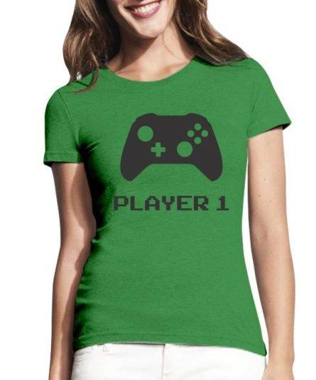 """Moteriški marškinėliai """"Gamer"""" , marskineliai mamai, mamos marskineliai, seimos marskineliai su spauda, linksmi marskineliai seimai"""