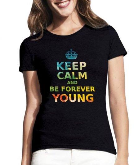 """Moteriški marškinėliai """"Keep calm"""" , moteriski marskineliai su spauda, gimtadienio marskineliai, stilingi marskineliai gimtadienio tema"""