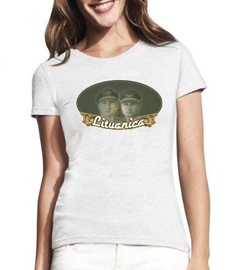 """Moteriški marškinėliai """"Lituanica"""" , moteriski marskineliai su spauda, marskineliai su lietuvisku simboliu, lietuviski marskineliai, marskineliai lauktuviu"""
