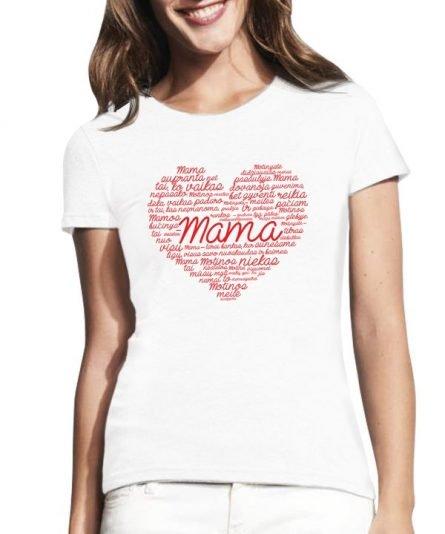 """Moteriški marškinėliai """"Laiškas mamai"""" , moteriski marskineliai su spauda, marskineliai mamai, dovana mamos dienai"""
