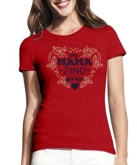 """Moteriški marškinėliai """"Mama žino"""" , marskineliai mamai su spauda, dovana mamai, marskineliai mamos dienai"""