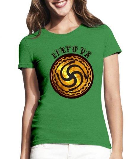 """Moteriški marškinėliai """"Mano Lietuva"""" , moteriski marskineliai su spauda, marskineliai su lietuvisku simboliu, marskineliai lietuviski, marskineliai lauktuviu"""