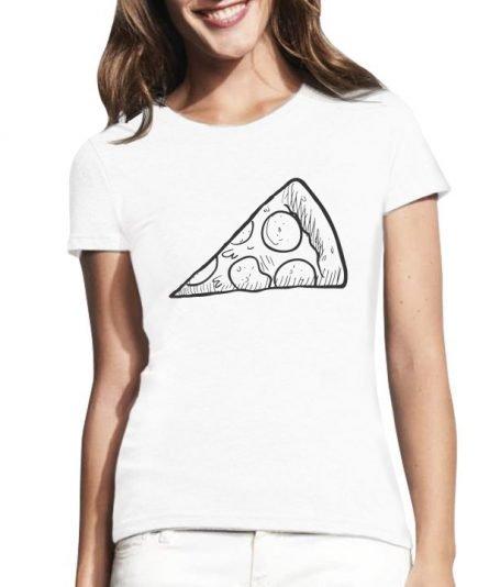 """Moteriški marškinėliai """"Pica mamai"""" , moteriski marskineliai su spauda, seimos marskineliai, marskineliai mamai, originalus seimos marskineliai"""