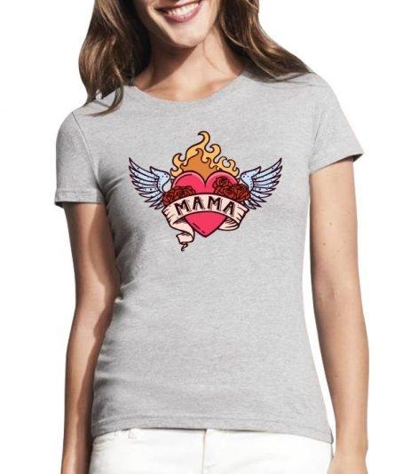 """Moteriški marškinėliai """"Tatuiruota mama"""", moteriski marskineliai su spauda, stilingi marskineliai mamai, dovana mamos dienai"""
