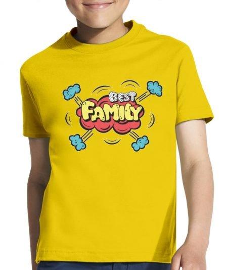 """Vaikiški marškinėliai """"Best family"""" , vaikiski marskineliai su spauda, seimos marskineliai, originalus marskineliai seimai"""