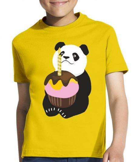 """Vaikiški marškinėliai """"Pandos gimtadienis"""" , vaikiski marskineliai su spauda, gimtadienio marskineliai vaikams, marskineliai gimtadienio proga"""
