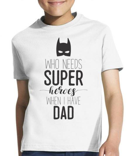 """Vaikiški marškinėliai """"Super hero"""" , vaikiski marskineliai su spauda, seimos marskineliai, tecio ir sunaus marskineliai su spauda"""