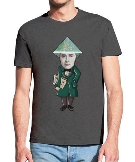 """Vyriški marškinėliai """"Daukantas 100 Lt."""" , vyriski marskineliai su spauda, marskineliai su lietuviska simbolika"""