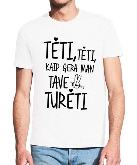 """Vyriški marškinėliai """"Gera turėti"""" , vyriski marskineliai su spauda, marskineliai teciui, dovana teciui"""