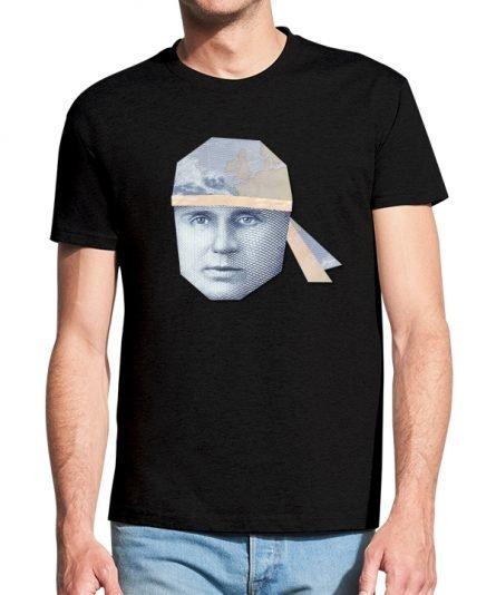 """Vyriški marškinėliai """"Girėnas 10 Lt."""" , vyriski marskineliai su spauda, marskineliai su lietuviska simbolika"""