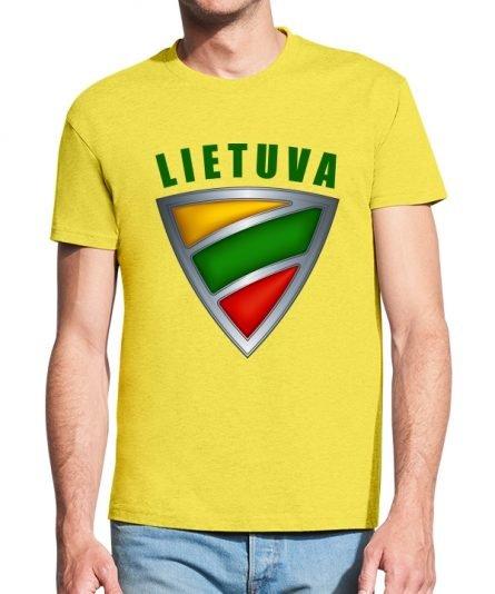 """Vyriški marškinėliai """"Lietuva"""" , vyriski marskineliai su spauda, lietuviski marskineliai, marskineliai su lietuvos simboliu, marskineliai lauktuviu"""