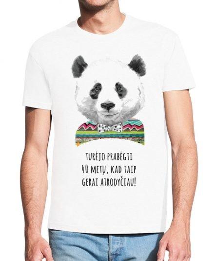 """Vyriški marškinėliai """"Panda"""" , vyriski marskineliai su spauda, gimtadienio marskineliai, marskineliai gimtadienio proga, dovana gimtadienio proga"""