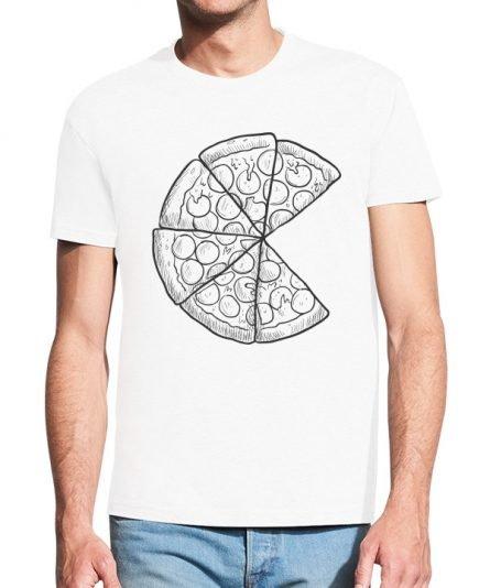 """Vyriški marškinėliai """"Pica tėčiui"""" , marškineliai teciui, seimos marškineliai su spauda, originalus marskineliai seimai"""