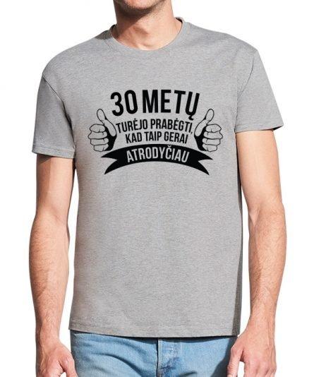 """Vyriški marškinėliai """"Prabėgo metai"""" , vyriski marskineliai su spauda, gimtadienio marskineliai, marskineliai gimtadienio porga, gimtadienio dovana vyrui"""