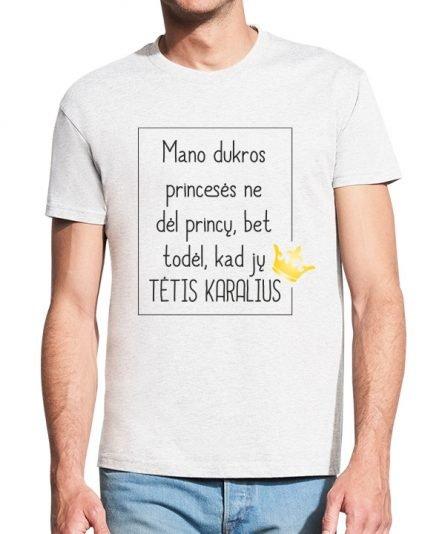 """Vyriški marškinėliai """"Tėtis karalius"""" , vyriski marskineliai su spauda, originalus marskineliai teciui, dovana teciui"""