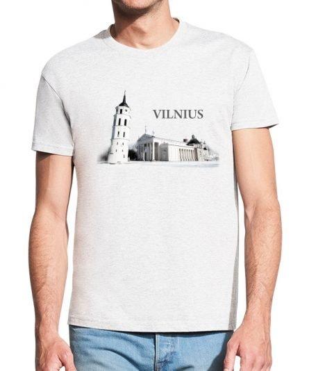"""Vyriški marškinėliai """"Vilnius"""" , vyriski marskineliai su spauda, marskineliai su vilniumi, lietuviski marskineliai, marskineliai su vilniaus miestu, originalus marskineliai su lietuvos simboliu"""
