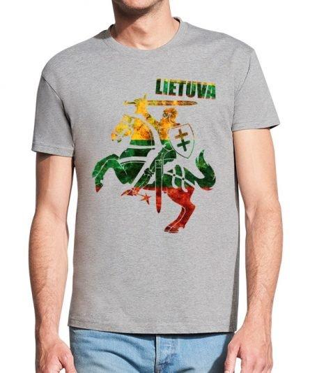 """Vyriški marškinėliai """"Vytis"""" , vyriski marskineliai su spauda, marskineliai su lietuvos simboliu, lietuviski marskineliai, marskineliai lauktuviu, marskineliai su lietuvos veliava"""