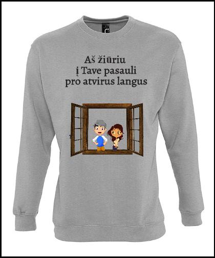 """Universalus džemperis """"Pro atvirus langus""""Universalus džemperis """"New supreme'', Marskineliai.lt, susikurkite savo marškinėlius"""