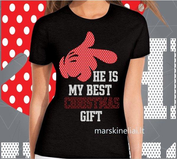 """Marškinėliai moterims """"Christmas gift"""""""