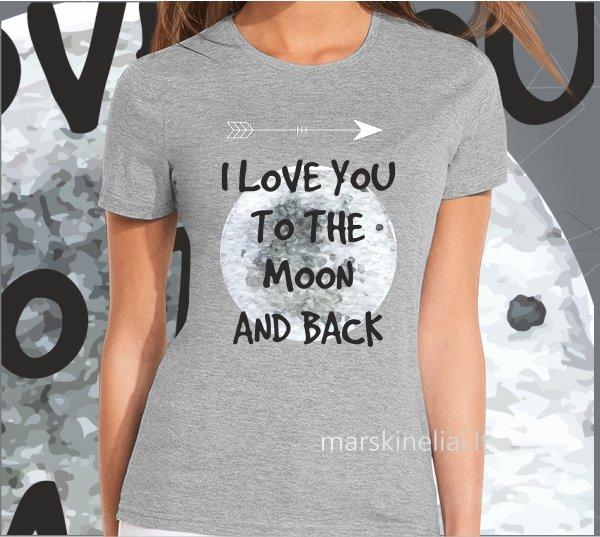 """Marškinėliai moteriški """"Mėnulis"""""""