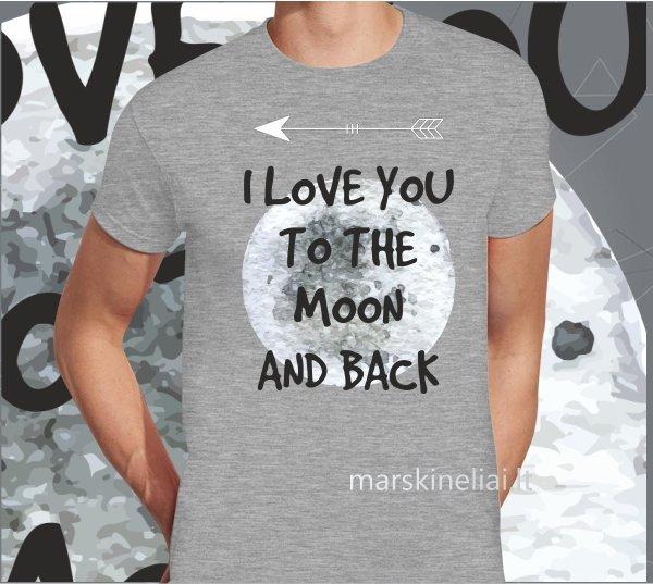"""Marškinėliai vyriški """"Mėnulis"""""""