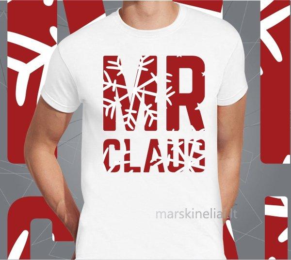 """Marškinėliai vyriški """"Mr claus"""""""